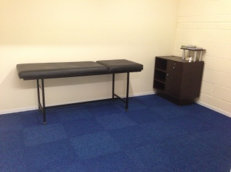 Our massage and rehabilitation room